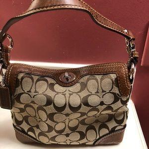 Coach tan signature purse